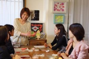 ソープカービング 教室 東京 フルーツカービング レッスン風景 カービングルームふわり にのみやまゆみ カービング講師
