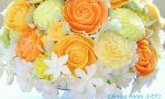 ソープカービング 教室 東京 フルーツカービング バラアレンジ カービングルームふわり にのみやまゆみ バラ カーネーション ダリア