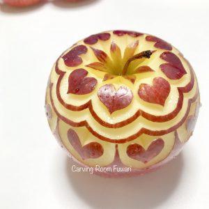 フルーツカービング リンゴカービング 飾り切り