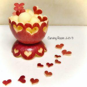 リンゴカービングで可愛い器を作る フルーツカービング