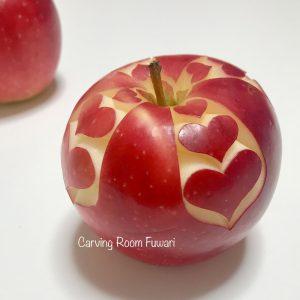 フルーツカービング リンゴカービング ハートの飾り切り