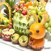 フルーツ盛り合わせはパーティーフルーツに喜ばれます。オレンジのウサギは可愛い。