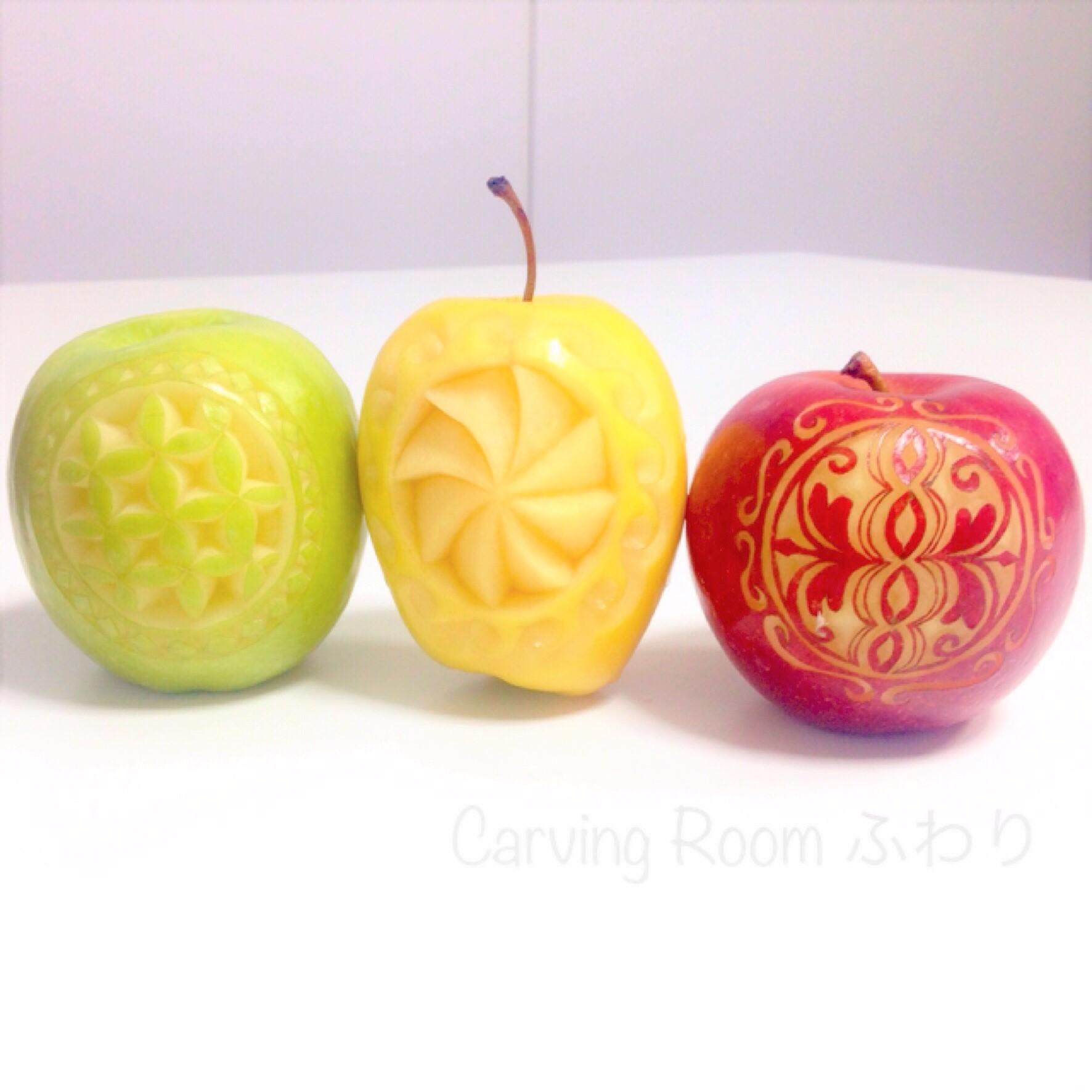 フルーツカービング リンゴ ソープカービング 教室 東京